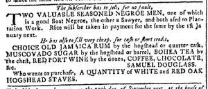 Aug 23 - Georgia Gazette Slavery 1