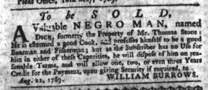 Aug 24 - South-Carolina Gazette Slavery 1