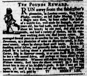 Aug 24 - Virginia Gazette Purdie and Dixon Slavery 11