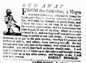 Aug 24 - Virginia Gazette Purdie and Dixon Slavery 3