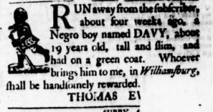 Aug 24 - Virginia Gazette Purdie and Dixon Slavery 5