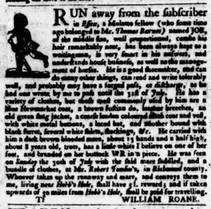 Aug 24 - Virginia Gazette Purdie and Dixon Slavery 8