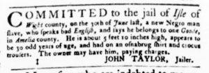 Aug 24 - Virginia Gazette Purdie and Dixon Slavery 9