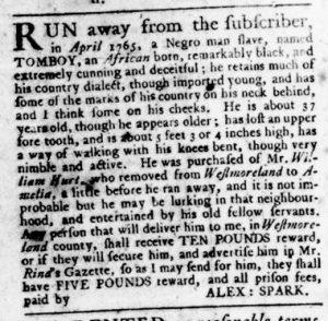 Aug 24 - Virginia Gazette Rind Slavery 10