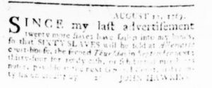 Aug 24 - Virginia Gazette Rind Slavery 2