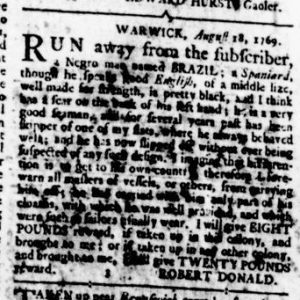Aug 24 - Virginia Gazette Rind Slavery 6