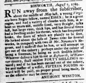 Aug 24 - Virginia Gazette Rind Slavery 8