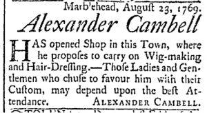 Aug 29 - 8:29:1769 Essex Gazette