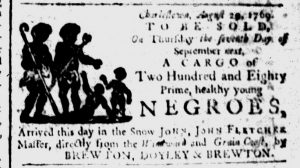 Aug 30 - South-Carolina and American General Gazette Slavery 1