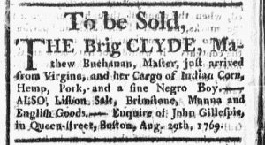 Aug 31 - Boston Chronicle Slavery 1