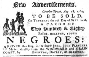 Aug 31 - South-Carolina Gazette Slavery 1