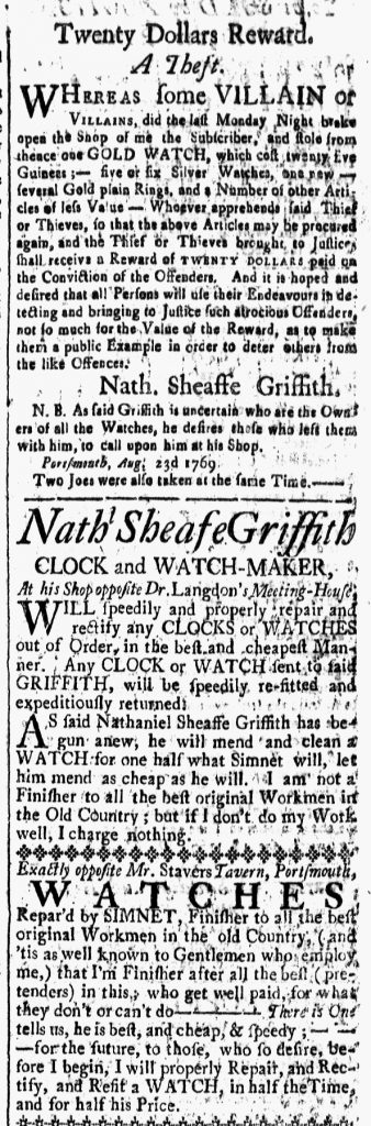 Sep 1 - 9:1:1769 New-Hampshire Gazette