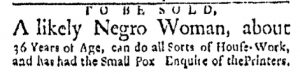 Sep 11 - Boston Evening-Post Slavery 1