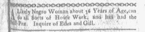 Sep 11 - Boston-Gazette Slavery 1