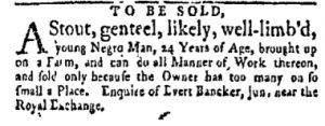 Sep 11 - New-York Gazette and Weekly Mercury Slavery 2