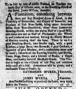Sep 11 - New-York Gazette and Weekly Mercury Slavery 3