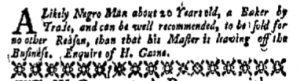 Sep 11 - New-York Gazette and Weekly Mercury Supplement Slavery 1