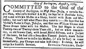 Sep 11 - New-York Gazette or Weekly Post-Boy Slavery 2