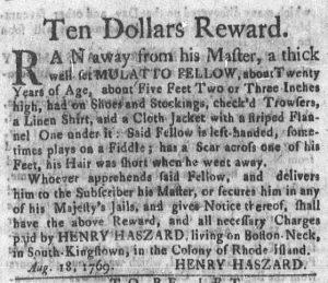 Sep 11 - Newport Mercury Slavery 1