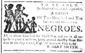 Sep 13 - South-Carolina and American General Gazette Slavery 1