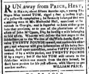 Sep 13 - South-Carolina and American General Gazette Slavery 4