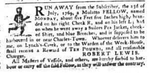 Sep 14 - South-Carolina Gazette Slavery 4