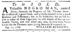 Sep 14 - South-Carolina Gazette Slavery 7
