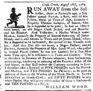 Sep 14 - South-Carolina Gazette Slavery 8