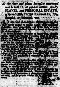Sep 14 - Virginia Gazette Purdie and Dixon Slavery 3