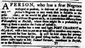 Sep 14 - Virginia Gazette Purdie and Dixon Slavery 4