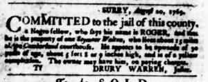 Sep 14 - Virginia Gazette Purdie and Dixon Slavery 5