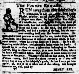 Sep 14 - Virginia Gazette Purdie and Dixon Slavery 7