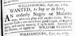 Sep 14 - Virginia Gazette Rind Slavery 1