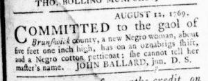 Sep 14 - Virginia Gazette Rind Slavery 2