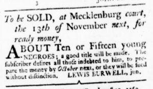 Sep 14 - Virginia Gazette Rind Slavery 4