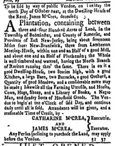 Sep 18 - New-York Gazette and Weekly Mercury Slavery 6