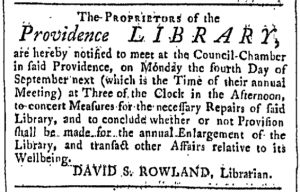 Sep 2 - 9:2:1769 Providence Gazette