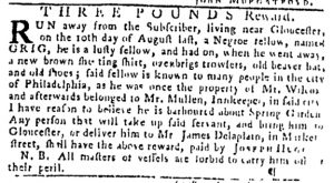 Sep 21 - Pennsylvania Gazette Slavery 1