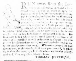 Sep 21 - Virginia Gazette Purdie and Dixon Slavery 5
