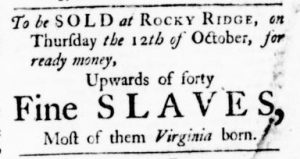 Sep 21 - Virginia Gazette Purdie and Dixon Slavery 6