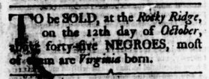 Sep 21 - Virginia Gazette Rind Slavery 2