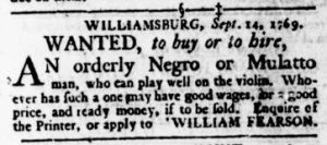 Sep 21 - Virginia Gazette Rind Slavery 7
