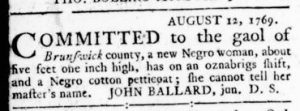Sep 21 - Virginia Gazette Rind Slavery 9