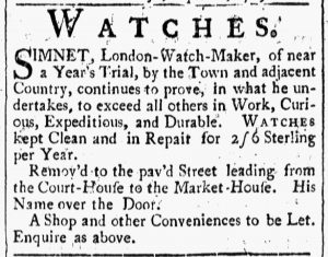 Sep 22 - 9:22:1769 Ad 1 New-Hampshire Gazette
