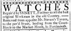 Sep 22 - 9:22:1769 Ad 2 New-Hampshire Gazette