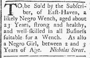 Sep 22 - Connecticut Journal Slavery 1