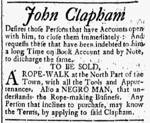 Sep 22 - New-Hampshire Gazette Slavery 1