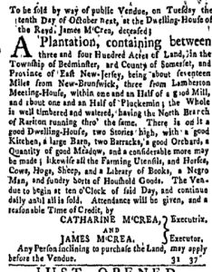 Sep 25 - New-York Gazette and Weekly Mercury Supplement Slavery 1