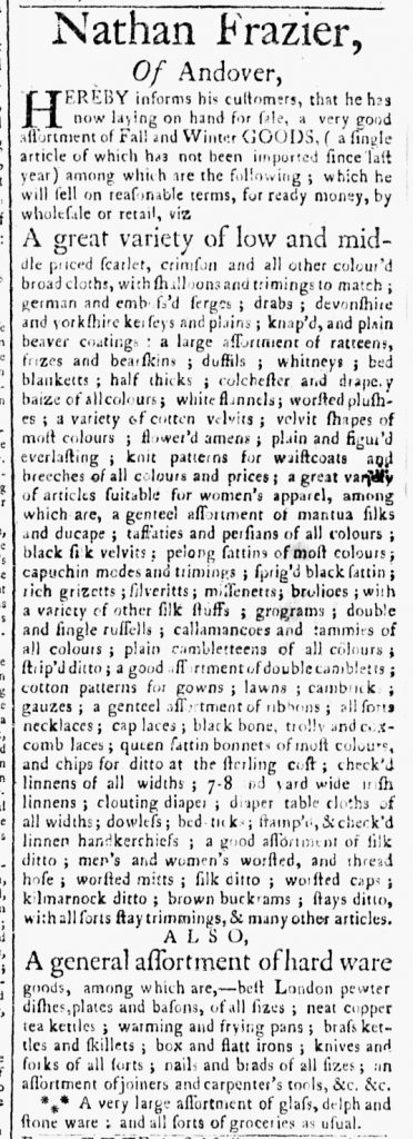 Sep 26 - 9:26:1769 Essex Gazette