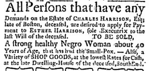 Sep 28 - Massachusetts Gazette and Boston Weekly News-Letter Slavery 3